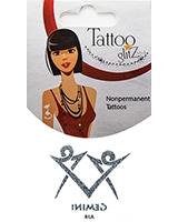 Glitter Tattoo Silver Zodiac/Gemini