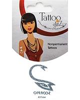 Glitter Tattoo Silver Zodiac/Scorpio