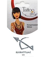 Glitter Tattoo Silver Zodiac/Sagittarius