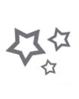 Glitter Tattoo Silver Stars