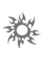 Glitter Tattoo Silver Sun