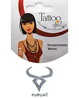 Glitter Tattoo Silver Zodiac/Taurus