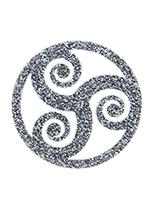 Glitter Tattoo Silver Triskelion Symbol