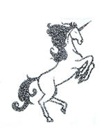 Glitter Tattoo Silver Unicorn