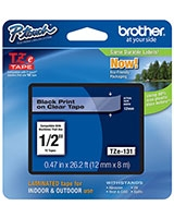 12mm Black On Clear Tape TZE-131 - brother