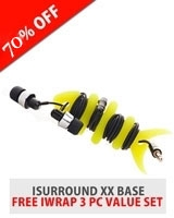 iSurround XX Bass Headphone + Free I Wrap 3 Pc value Set - iTronz