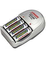 Battery charger With Timer Control V-99A+4AAA - Vanson
