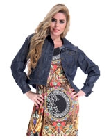 Denim Jeans Short Jacket Dark Navy - Guzel