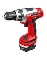 Cordless drill with additional battery 12V