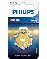 Minicells Battery 10/230 Zinc Air ZA10B6A - Philips