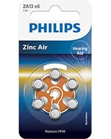 Minicells Battery Zinc Air ZA13B6A - Philips
