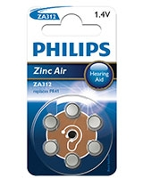 Minicells Battery Zinc Air ZA312B6A - Philips