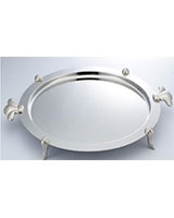 Round Stainless Steel Tray - Home