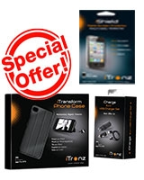 Buy iTransform Phone Case + iCharge 3 in 1 Carger Set - iPhone 4/4S  + 2 iShield Screen Protector - iTronz