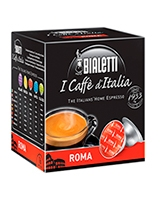 Roma Medium Roasted 16 Capsules Box Gusto Forte - Bialetti