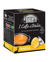 Venezia Light Roasted Vanilla Flavored 16 Capsules Box Gusto Dolce - Bialetti