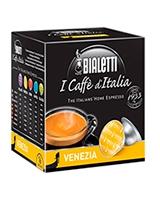 Venezia Light Roasted Vanilla Flavored 16 Capsules Box Gusto Dolce - Bialetti
