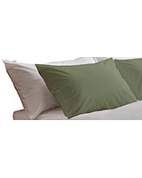 Fashion pillowcase 144 TC Olive gray color - Comfort