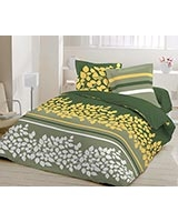 Printed fitted bed sheet Yushan A design Cypress color - Comfort