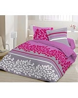Printed fitted bed sheet Yushan B design Sangria color - Comfort