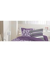 Printed pillowcase Yushan C design Radiant Orchid color - Comfort