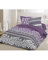 Printed flat bed sheet Yushan C design Radiant Orchid color - Comfort
