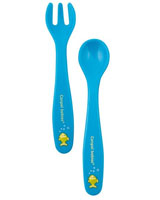 Set includes a spoon and fork - Canpol Babies
