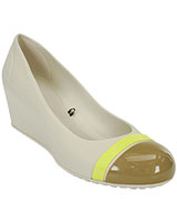 Women's Cap Toe Stucco/Olive Wedge 12299 - Crocs